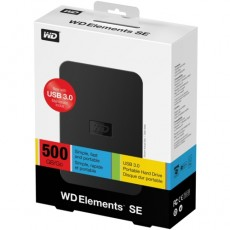 WD 2.5 500 GB Elements SE Portable USB 3.0 /Siyah